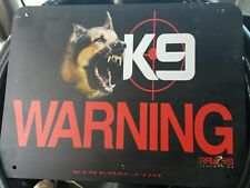 Beware of dog Warning k9 Sign Aluminum Sturdy Signs