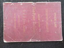 W. F. & John Barnes Foot Power Machinery Catalog #17 Original Woodworking