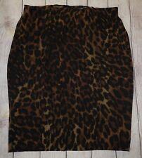 Lane Bryant Brown Black Leopard Print Straight Pencil Skirt Plus Size 18