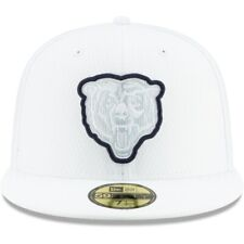 New Era 59fifty 2019 NFL Sideline Platinum Fitted Hat White Navy 71/4