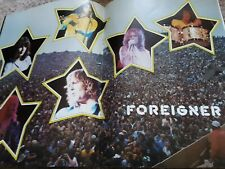 1980 Foreigner Concert Tour Program