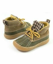 NIB LIVIE & LUCA Shoes Boots Gordon Brown Green Suede Leather Toddler 4