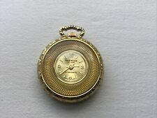 de luxe Bevelled pocket watch Gwo vintage gold tone cased mid size chancellor