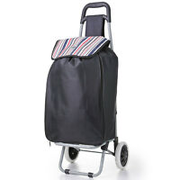Hoppa Expanding Large 51L Folding 2 Wheel Shopping Trolley Capacity Shopper