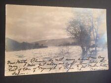 USA 🇺🇸 Lock Haven Pennsylvania Winter Scene 1906 RPPC Real Photo Postcard