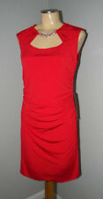 BLU SAGE ~ SEXY ~ RED Ruched Cocktail Dress Petite 8 8P NWT
