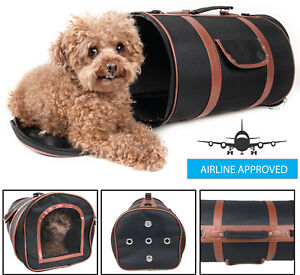 Airline Approved Fashion Cylinder Posh Designer Travel Pet Dog Carrier bag