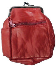 (1) Red Lamb Skin Leather Cigarete Case Holds 100's, 3204RED