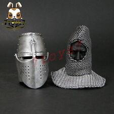 ACI Toys 1/6 ACI24C Templar Knight Banner Holder_ Helmet + faked head _ AT081J