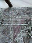 2 Antique Clear Glass Towel Bars with Brackets Art Deco 18' Width not Curves Cou