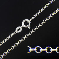 925 Sterling Silver BELCHER ROLO Chain Necklace 2mm Various Lengths Available