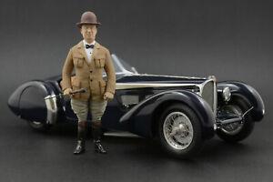 Ettore Bugatti Figure for 1:18 Autoart 57SC Atlantic VERY RARE!  !! NO CAR !!