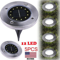 5X Solar Power Buried Light With 12LED Under Ground Lamp Outdoor Path Way Garden