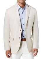 Tasso Elba Mens Sport Coat Beige Natural Size 2XL Linen Two-Button $119 #065