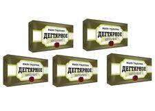 5x Teer-Seife Birkenteer-Seife gegen Dermatitis Akne Birkenseife Kernseife AIST