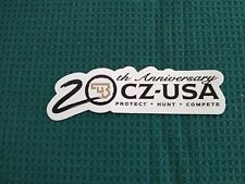 CZ-USA 20TH ANNIVERSARY PROTECT HUNT COMPETE TRUCK DECAL
