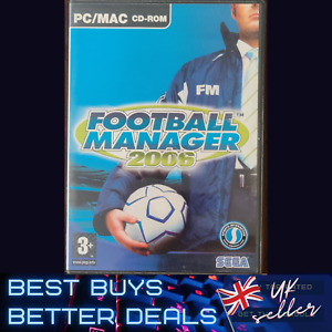 Football Manager 2006 PC Game Windows Complete with Manuals TESTED