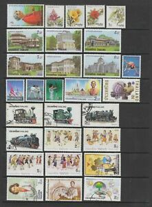 Thailand 1990 - 1992 collection, 74 stamps MNH or fine used