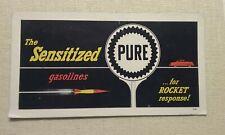 "Pure Gasoline Blotter~ the Sensitized Gasolines "" Rocket Response"" Unused"