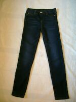 Celebrity Girls Pink Dark Blue Jeans Jeggings Size 14 Sparkle Rhinestones BTS
