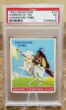 1933 Indian Gum Warrior of the Camanchee Tribe Card #19 PSA Graded EX 5 27462939