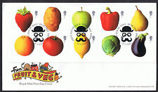 Fun Fruit & Veg 2003 First Day Cover - SG2348 to SG2357 Pear Tree Derby Cancel