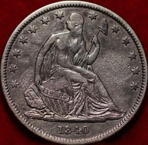 1840 Philadelphia Mint Silver Seated Half Dollar