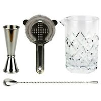NEW Old Fashioned Cocktail Kit - Bar Set Drinks Alcohol Hawthorn Strainer Yarai