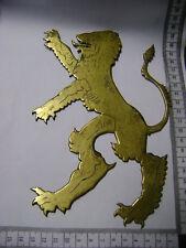 Großer alter Wappenlöwe aus Messing