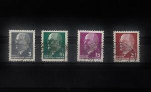 DDR_1300b Nr. 845-848 ʘ von 1961/ 1972 - Freimarke Walter Ulbricht