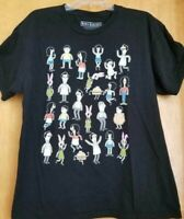 BOB'S BURGERS RIPPLE JUNCTION GRAPHIC T-SHIRT LARGE BLACK BOB BELCHER TINA GINA