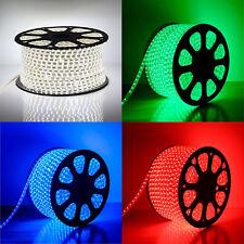 LED Strip RGB 220V 240V IP68 Waterproof 3528 SMD Rope Garden Decking Kitchen UK