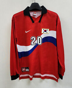 1996-97 Korea Home L/S No.20 M B HONG Player Issue 1998WorldCup Qualifying L