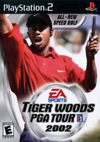 Tiger Woods PGA Tour 2002 PlayStation 2 PS2 Game Complete *CLEAN VG