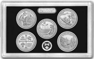 2019 US MINT AMERICA THE BEAUTIFUL QUARTERS SILVER PROOF SET COINS with COA