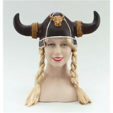 Bristol Novelty Bh210 Viking Helmet With Blonde Plaits One Size