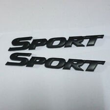 2x Black Matte SPORT Metal Badge Sticker Emblem 3D v6 Limited suv High Auto 4wd