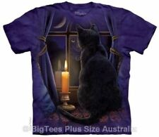 Cats Graphic Tee Machine Washable Tops for Women