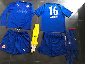 mens Used full team Puma Cardiff City football kit