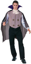 Mens Classic Vampire Costume Scary Vamp Outfit Medallion Dracula Count Adult NEW