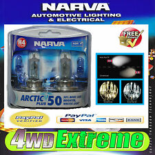 NARVA H4 GLOBES ICY BLUE ARCTIC 12V 60/55W 48677BL2 LIGHTS HEADLIGHTS PARKER T10
