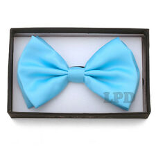 Pastel Blue Classic Bow Tie  Adjustable Unisex PreTied Blue Bow Tie NEW IN BOX