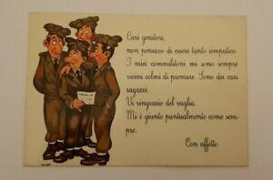 cartoline umoristiche militari  formato grande anni '60 fanteria nino