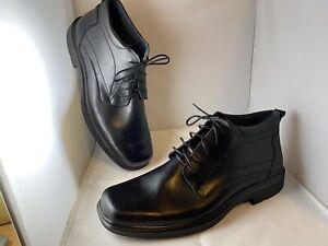 Airflex Everlite Thorp Black Leather Comfort Dress Shoes RRP $179 UK 12 New