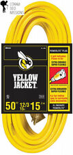 Yellow Jacket 2884 12/3 Heavy-Duty 15-Amp Sjtw Contractor Extension Cord.