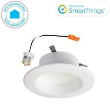 Halo RL 4 in. White Wireless Smart Integrated LED Recessed Ceiling Light Trim