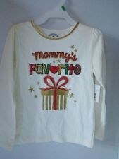 """Mommy's Favorite"" Christmas T- Shirt Top 5T Toddler Long Sleeve New w/tags"