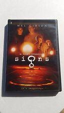 Signs (DVD, 2003) Mel Gibson Suspense Thrilling Frightening Heartbreaking Used