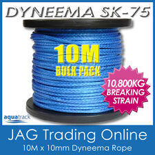 10M x 10mm H/DUTY DYNEEMA SK75 SYNTHETIC ROPE - Spectra/Yacht/4x4/Trailer/Winch
