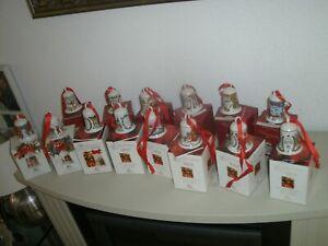 Hutschenreuther  14 x Weihnachtsglocken Weihnachts Glocke